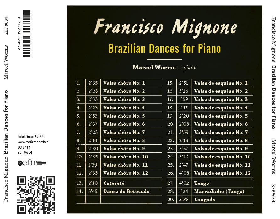 Marcel Worms - Brazilian Dances for Piano